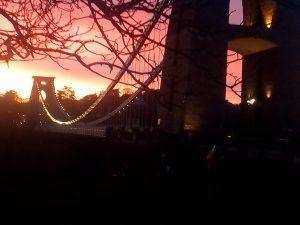 Clifton Suspension Bridge sunset